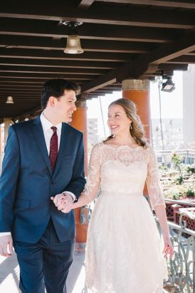 Josh Brown with bride Hallie Mac